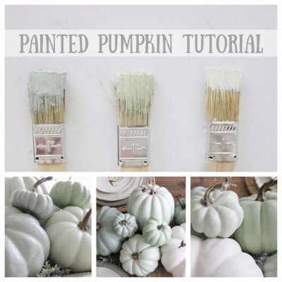 DIY Neutral Painted Pumpkins