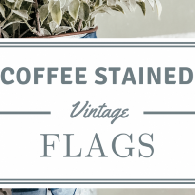 Coffee Stained Vintage Flags